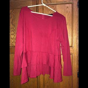 ELOQUII Red Peplum 22 shirt
